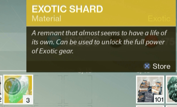 exotic shard upgrade