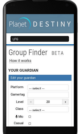 Current mobile site