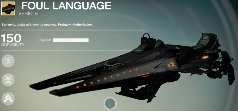 foul language exotic sparrow