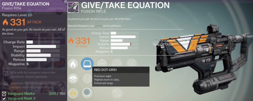 give take equation fusion rifle