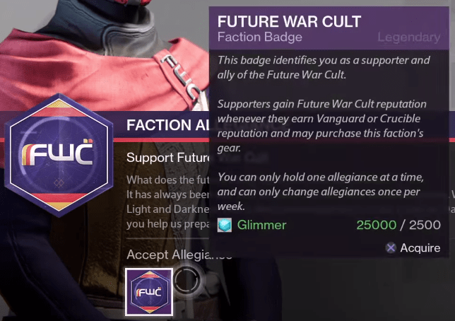 future war cult alliance