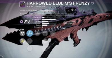 king's fall harrowed rocket launcher