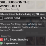 srl bugs on widshield bounty