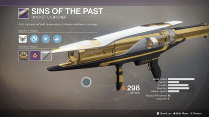 destiny 2 raid rocket launcher