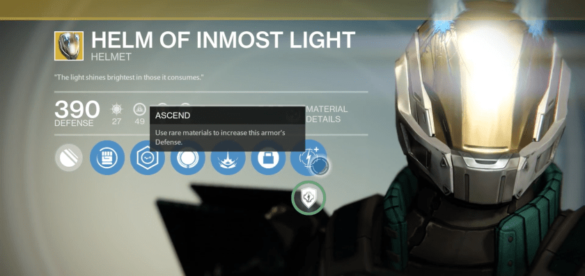 helm of inmost light exotic