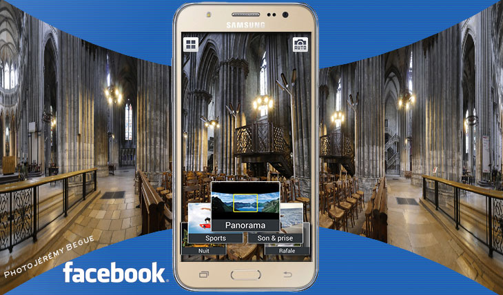 Photo 360 degrés Facebook Android et PC.