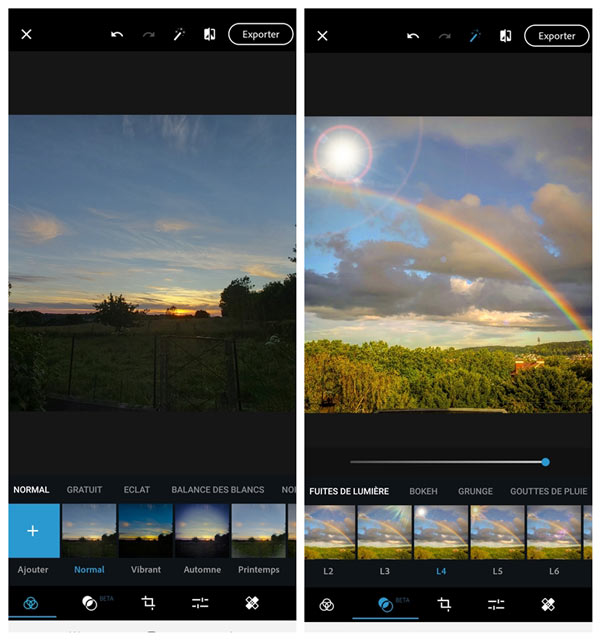 Photoshop Express pour Mobile