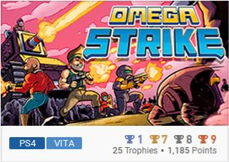 Omega Strike Liste de trophées PS Vita & PS4