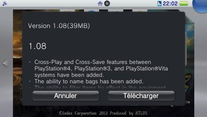 Dragon's Crown mise à jour 1.08 sur PS Vita