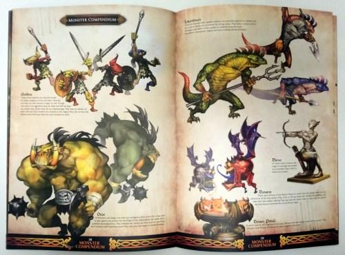 Quelques monstres de Dragon's Crown, présentés dans le livret des artworks de Dragon's Crown.
