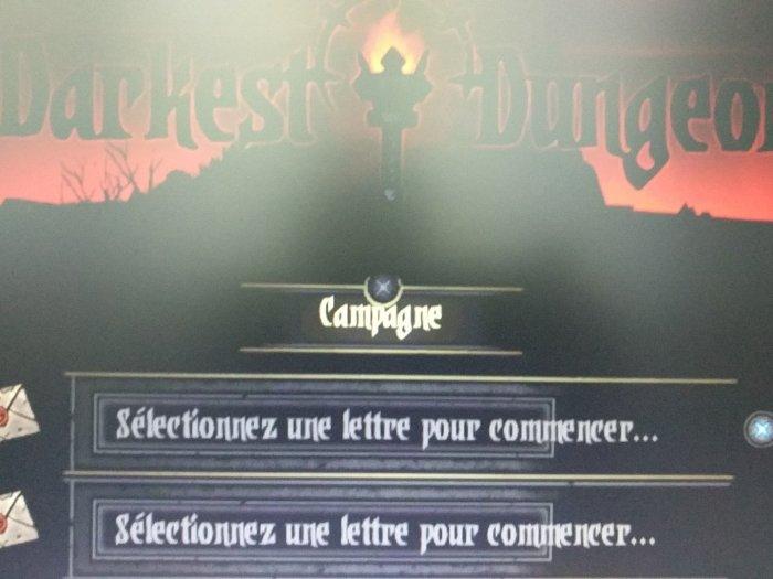 Darkest Dungeon PS Vita physical english & french menu