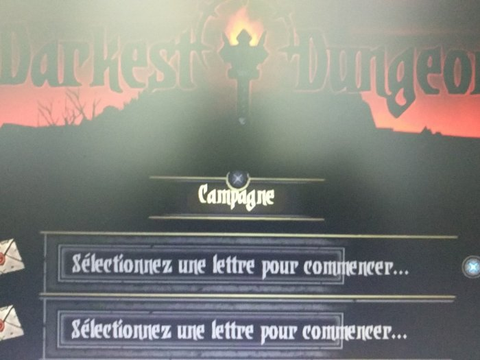Darkest Dungeon PS Vita physical english & french menu
