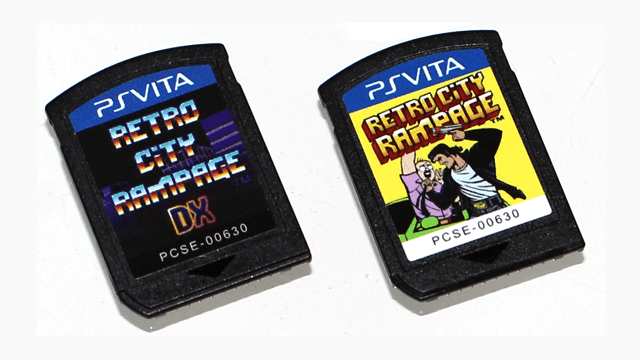 Reto City Rampage DX cartouches PS Vita