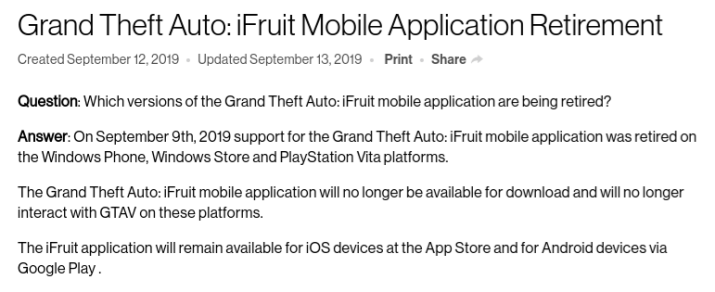 iFruit GTA5 PS Vita