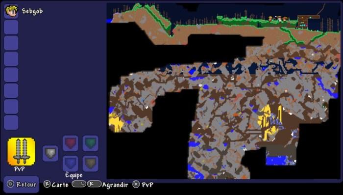 Carte souterraine