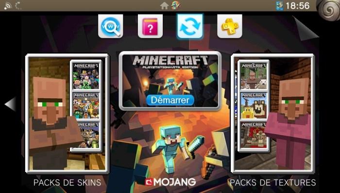 Pas de mise à jour depuis le LiveArea pour Minecraft PS Vita