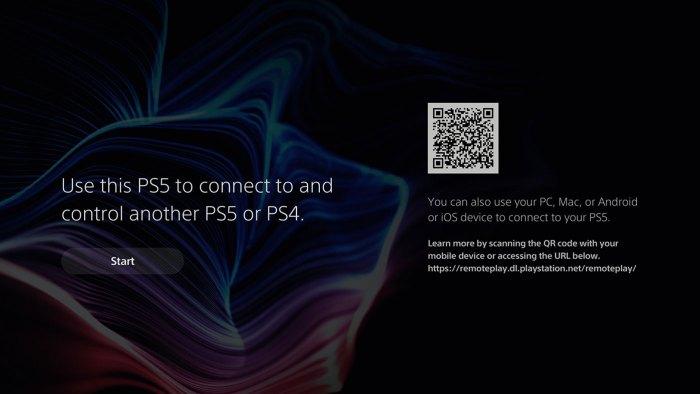 Pas de remote play PS5 depuis la PS Vita