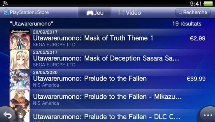 Utawarerumono : supprimés du PlayStation Store Européen