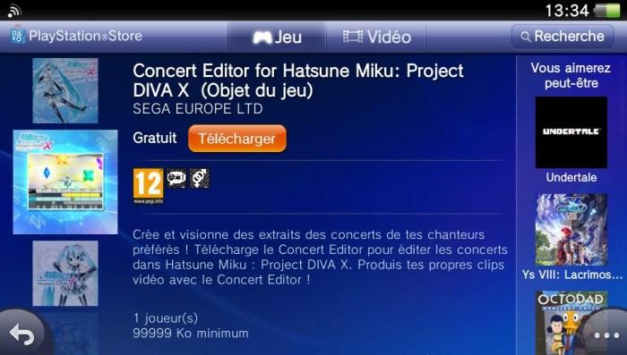 Hatsune Miku DLC PS Vita