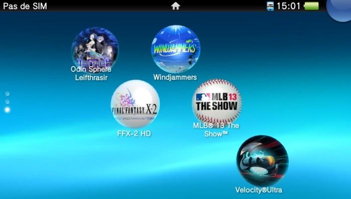 Bulles de jeux PS Vita