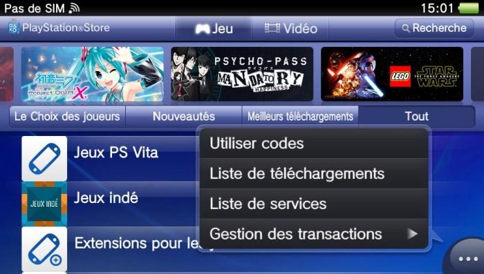 Téléchargements PlayStation Store
