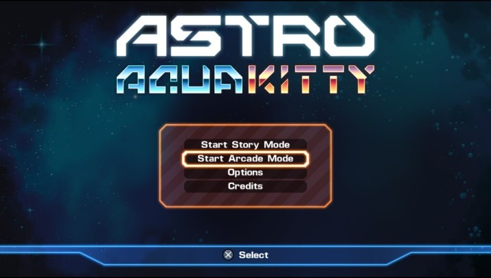 Astro Aqua Kitty mode arcade