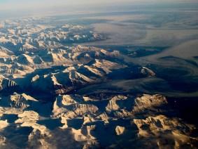 Survol du Groenland, côte orientale - Photo JMDigne pour Planète Vivante 24/10/2015