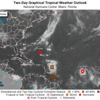 Saison 2016 des ouragans dans l'Atlantique : suivi des perturbations et dépressions tropicales (23 août 2016)