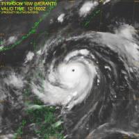 Super Typhon Meranti se dirige vers Taïwan (12/09/2016)