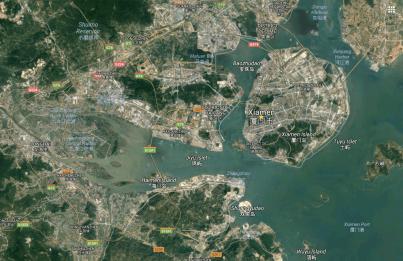 Carte de localisation ville de Xiamen, province chinoise du Fujian - Google Maps