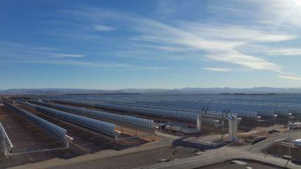 Noor 1 est une centrale solaire thermique à concentration © Radio France / Sandy Dauphin (France Inter)