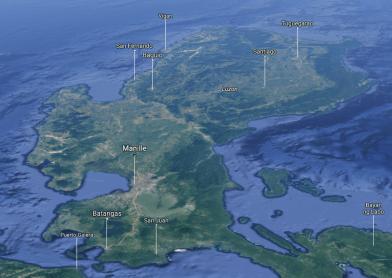 Carte de l'île de Luçon, Philippines - Google Maps