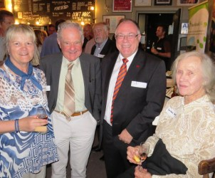Anne Jensen, NFSA supporter Dr David Hansman, SA Water Minister Ian Hunter, NFSA co-founder Dr Barbara Hardy