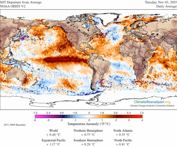 Sea Surface Nov 3 2015