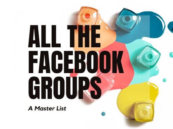 Facebook Groups Master List