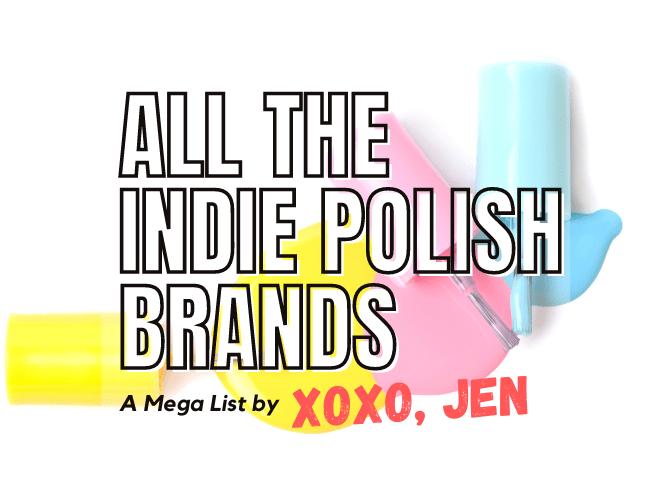 Indie Polish Shop List by xoxo, Jen