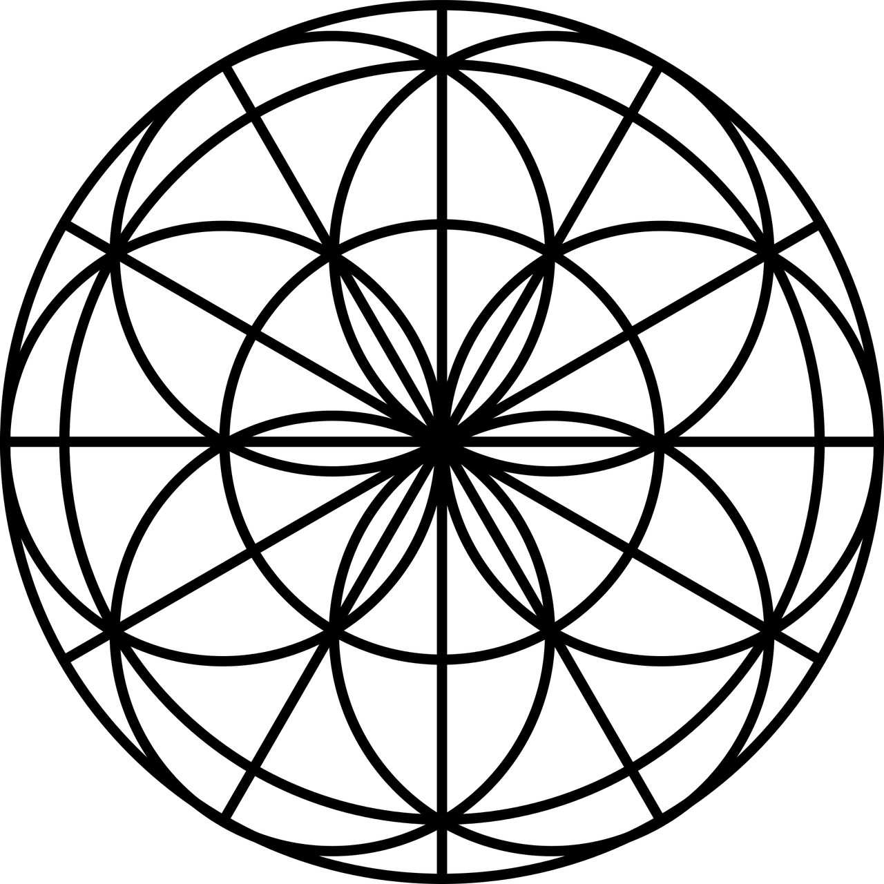 flower of life, sacred geometry, flower