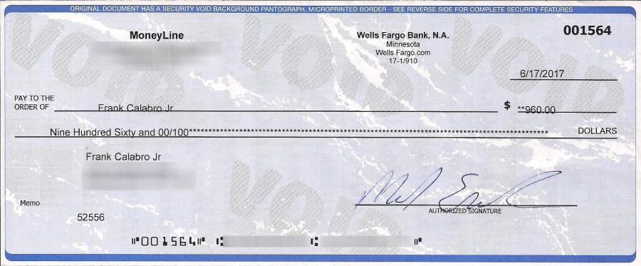 moneyline check