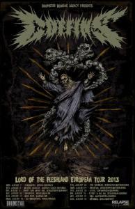 Coffins Euro Tour Poster
