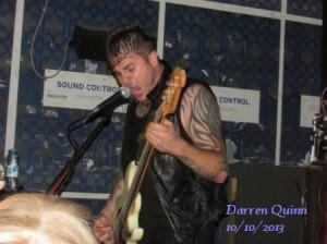 Zico Chain's singer/ bass player Chris Glithero