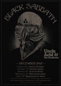 Black Sabbath GB tour poster
