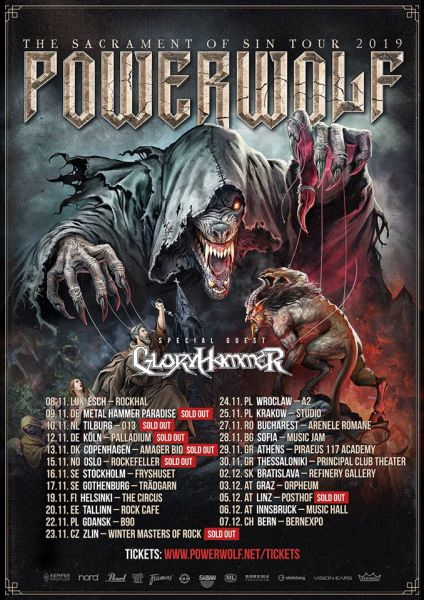 Powerwolf tour poster