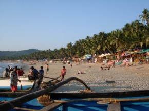 Traditional fishing boats on the beach