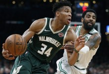 Photo of Milwaukee came forward in the NBA playoff series against Boston