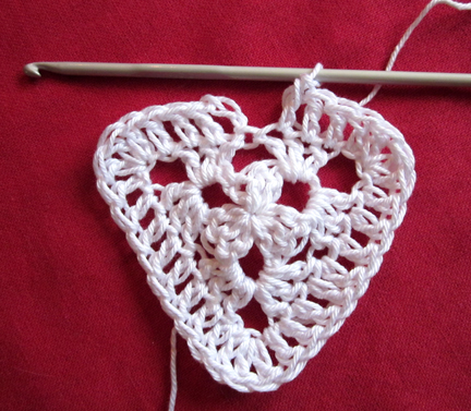 Step 8 Christmas Crochet Bunting