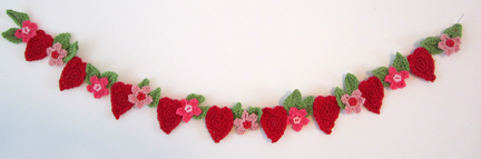 heaets and flowers bunting