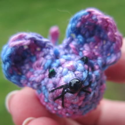 very small crochet mouse