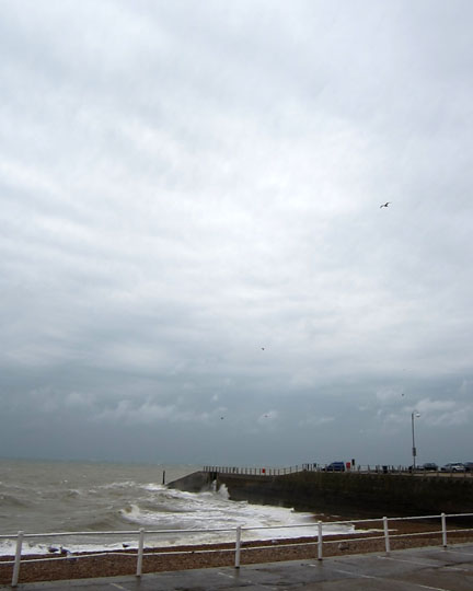 Rainy day in Hastings