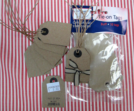 brown parcel tags