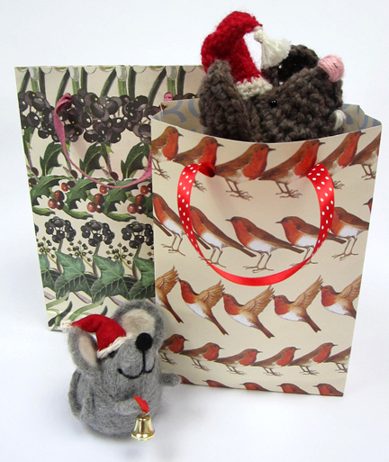 Gift Bags with mice for Advent Calendar - Day Eleven